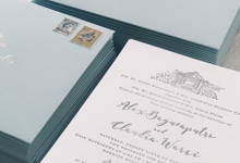 Alex & Claudia's Vineyard Wedding Invitation Theme by Fornia Design Invitation