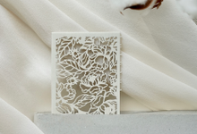 Thomas & Fidella Laser cut Invitation by Fornia Design Invitation
