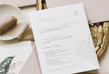 Victor & Cindy by Fornia Design Invitation