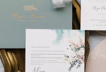 Alya & Arman Invitation by Fornia Design Invitation