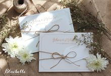 Yohan & Melinda - Rustic Pastel Floral Invitation by Bluebelle Invitations