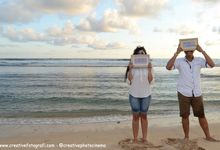 Prewedding di Pantai Jogja (romantic prewedding in the beach) by Creative Fotografi