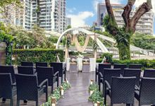 Outdoor Solemnisation by the river by Four Points by Sheraton Singapore, Riverview