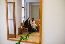 Frederiksberg Town Hall Wedding / Elopement by Ieva Vi Photo by Ieva Vi Photography