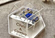 Triple Acrylic Wedding Ring Box by feliceshop.ts