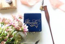 *NEW* Custom Calligraphy on Jewellery Box by Funietchi Calligraphy