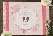 Fuandi & Vina by Bluebelle Invitations