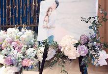 Tiffany & Jonathan Big Day Floral Decoration by FOUNDATION WALLFLOWER