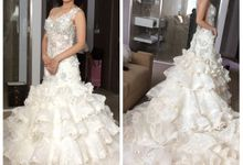 Special Designe Wedding Gown For Ms. Yeria by Tracy Bridal House