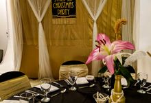 Great Gatsby Christmas Party by Alfonso's Catering