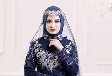 Gaun Kebaya Resepsi  Syari Navy Photoshoot by LAKSMI - Kebaya Muslimah & Islamic Bride