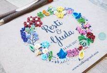 Quilling Wooden Guestbook by TalkingCard