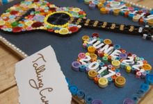 Guitar Quilling Wooden Guestbook by TalkingCard