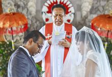 Blessings at Protestant Church by With You Bali Wedding Planner