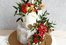 Marble 2 Tiered Cake by KAIA Cakes & Co.