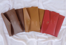 """""""Standard"""" leather pouch for Budi & Ivone wedding✨ by Gemilang Craft"""