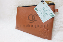 Premium Zipper Pouch for Dian & Dewa wedding✨ by Gemilang Craft