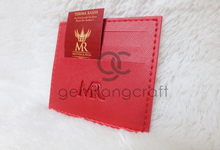 Premium card wallet for Muthia & Reza by Gemilang Craft