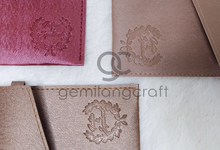 Prada envelope pouch Intan & Syahrul by Gemilang Craft