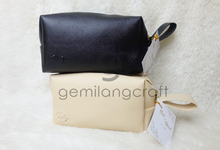 Special premium boxy pouch for Noni & Ilham by Gemilang Craft