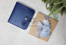 B-wallet with craftbox and ribbon for Lei & Via✨ by Gemilang Craft