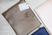 Big size premium zipper pouch for Riedl & Antoneta by Gemilang Craft