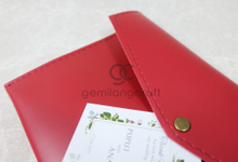 Standard envelope pouch for Puput & Anaz by Gemilang Craft
