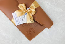 Standard envelope packaging ribbon Eva & Tareq by Gemilang Craft
