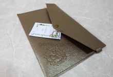 Prada envelope pouch for Rangga & Eko by Gemilang Craft