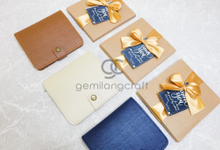 Premium b wallet paper box for Mutia & Rizki by Gemilang Craft