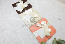 Premium b wallet packaging ribbon Johan & Chyntia by Gemilang Craft