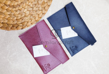 Prada envelope pouch for Suci & Zaenal by Gemilang Craft