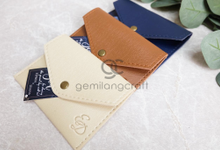 Premium card coin case for Edwin & Diana by Gemilang Craft