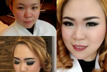 Before And After by LALA  MAKEUP&HAIRDO