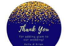 Glamorous Confetti Favor Tags & Stickers by Gift Elements