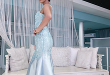 Evening Gown in Dusty Blue by Gladicious