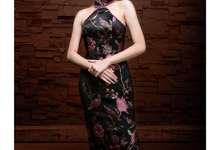 Cheongsam in Dark Fuschia by Gladicious