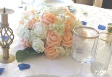 Create A Simple Centerpiece With A Small Budget by Kamy Wedding