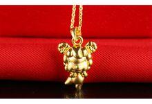 Tiaria Zodiac Goat Gold Pendant Perhiasan Liontin Emas by TIARIA