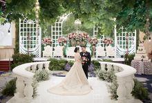 Holy Matrimony and The Reception of Glen & Putri by Menara Mandiri (Ex. Plaza Bapindo) by IKK Wedding