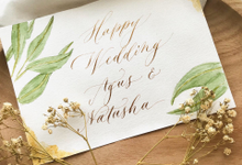 Wedding Lettering  by Grace and Truly Calligraphy