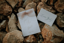 Save the date - Onggo and Vivie Wedding by Grace and Truly Calligraphy