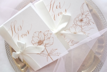 Floral illustration Vow Books by Grace and Truly Calligraphy