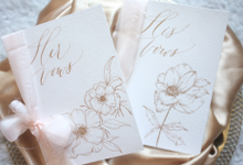 Autumn Memories Vow Books Collection by Grace and Truly Calligraphy