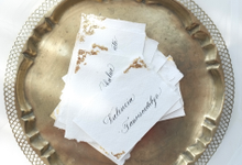 Classic Vintage Calligraphy Placecards by Grace and Truly Calligraphy