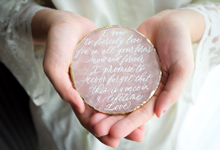 Agate & CrystalAgate Lettering for Wedding Styling by Grace and Truly Calligraphy