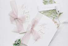 Timothy & Devina Wedding  by Grace and Truly Calligraphy