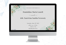 The Wedding of Mario & Vina by ERUGO Digital Guest Book