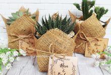 Wedding Rara & Baden - Sukulen Buket Goni by Greenbelle Souvenir