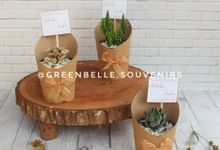 Wedding Arhita & Andri - Sukulen Buket Brown Paper by Greenbelle Souvenir